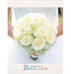 Beyaz Gül Gelineli Çiçeği